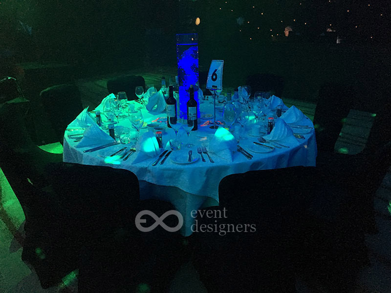 Bubble LED table centre