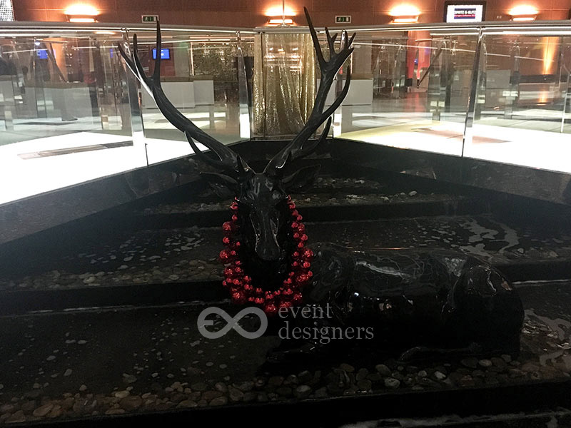 Radisson stag bauble necklace